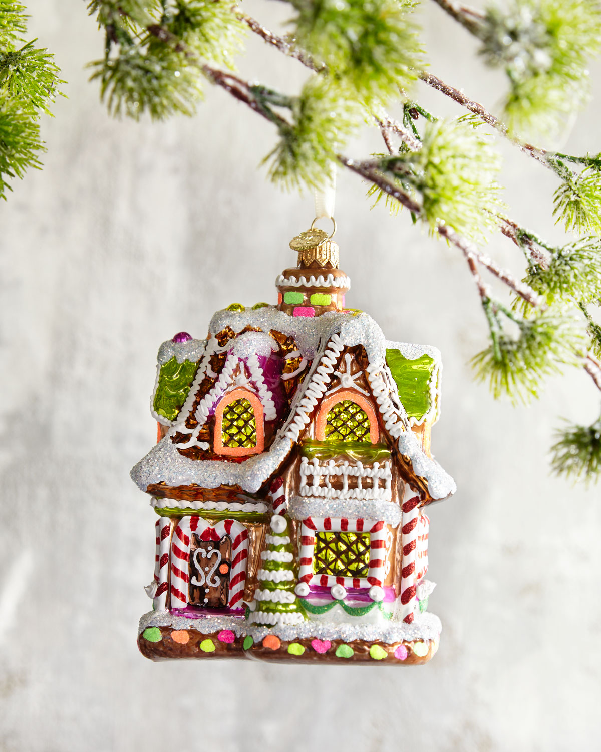 Reduced Christmas Decorations: John Huras Gingerbread House Christmas Ornament