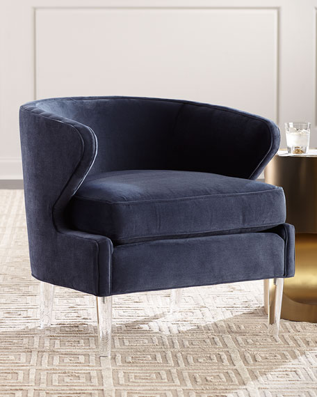 Danner Modern Accent Chair with Acrylic Legs