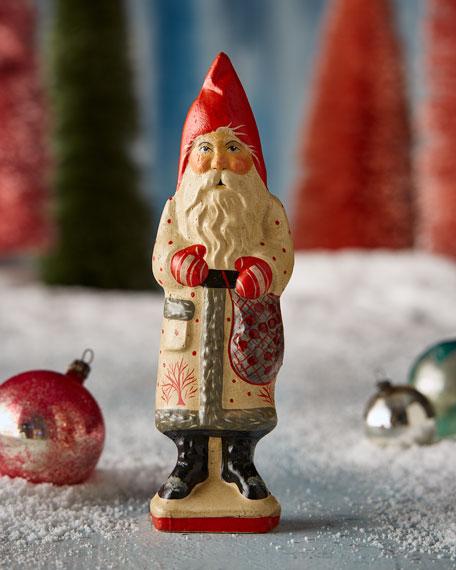 Vaillancourt Folk Art Art Deco Greetings Santa Figurine