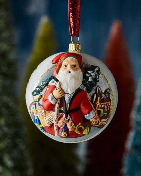Vaillancourt Folk Art Jingle Ball Santa with Christmas