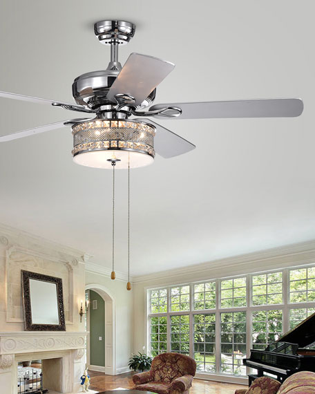 "52"" Chrome Ceiling Fan"