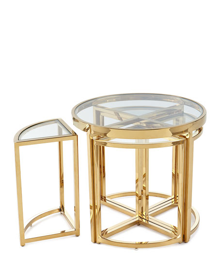 Arpeggio Gold Side Table Set