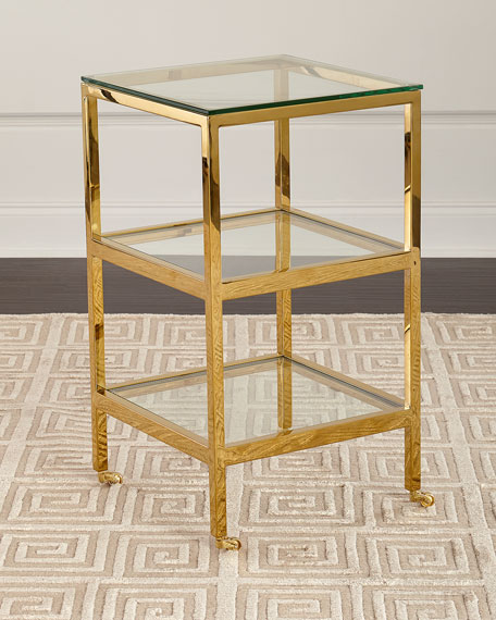 Ziv Gold Finish Side Table