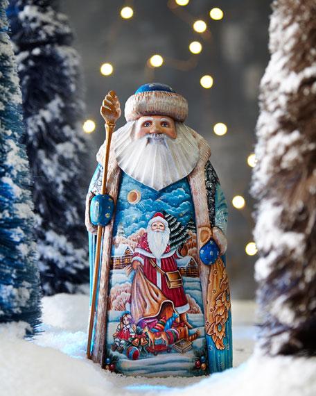 Old World Wood-Carved Santa