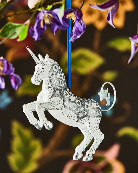 Silver Unicorn Ornament