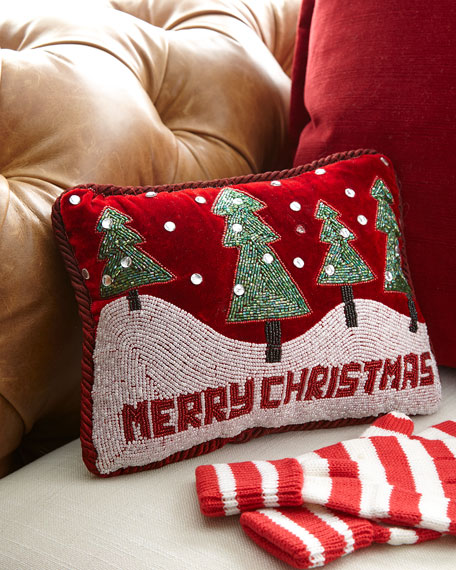 Sudha Pennathur Merry Christmas Pillow