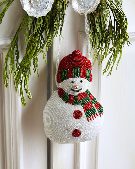 Sudha Pennathur Beaded Snowman Door Knocker