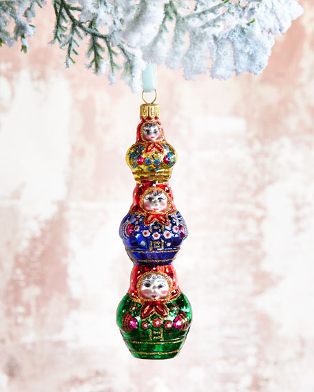 Stacked Matryoshka Dolls Christmas Ornament