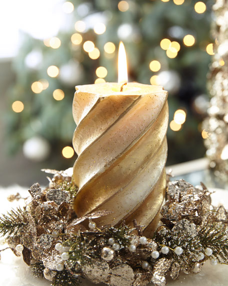 Tall Swirl Pillar Candle