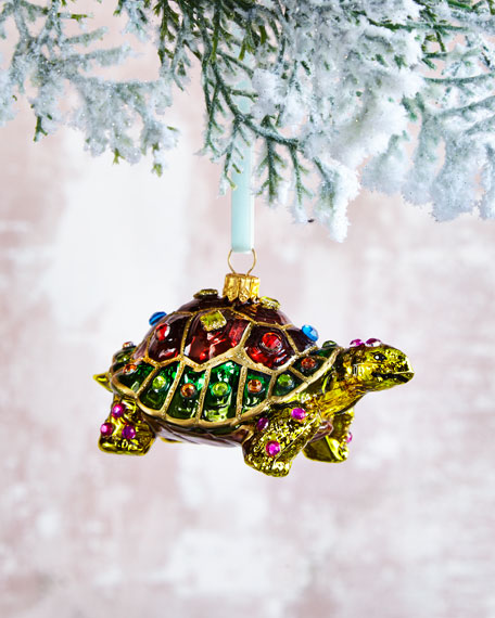 Jewelry Tortoise Christmas Ornament