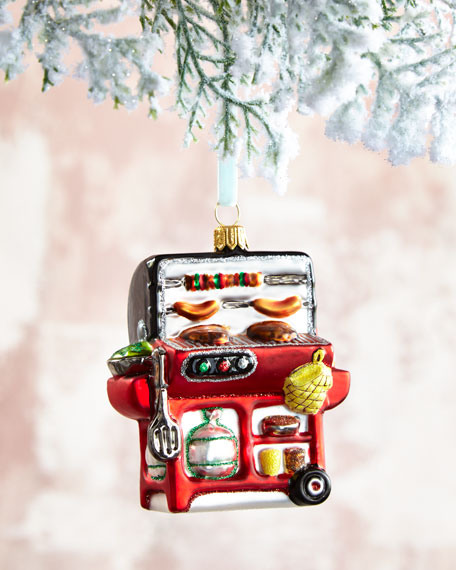 BBQ Gas Grill Christmas Ornament