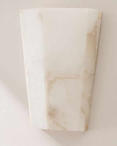 Tapered Alabaster Sconce