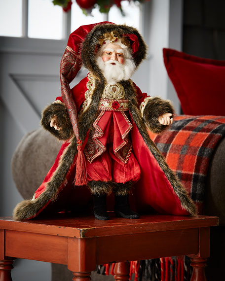 Holiday Cheer Santa Doll, 18""