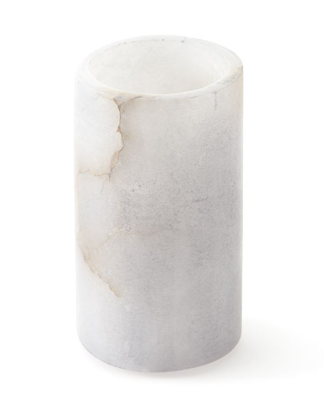 Kassatex Grey Alabaster Bath Accessory Tumbler and Matching