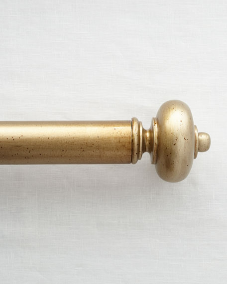 Legacy Paris Smooth Curtain Rod, 4'
