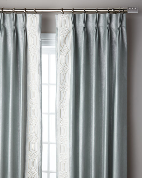 Ocean Sparkle 3-Fold Pinch Pleat Curtain Panel, 96""