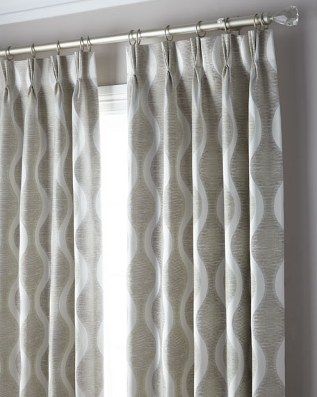 3-Fold Pinch Pleat Wave Curtain, 96""