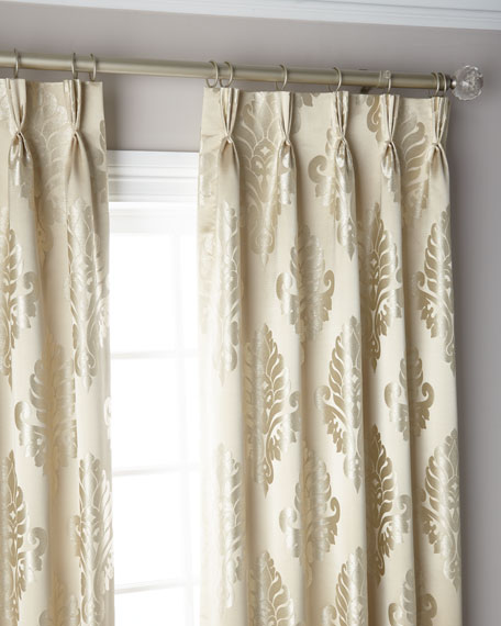 """Oyster 3-Fold Pinch Pleat Curtain Panel, 132"""""""