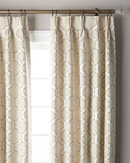 "Pearl 3-Fold Pinch Pleat Curtain Panel, 132"""