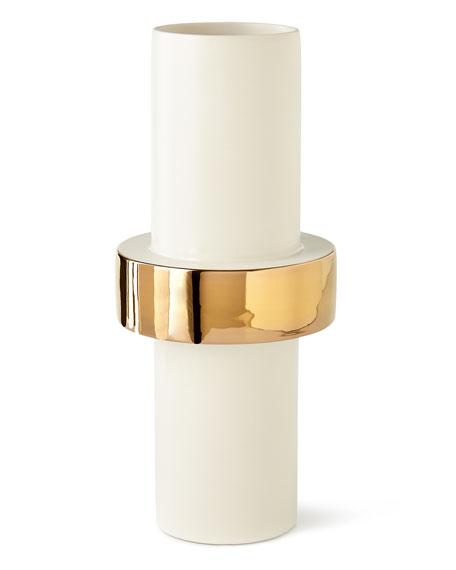 Mid Golden Ring Vase