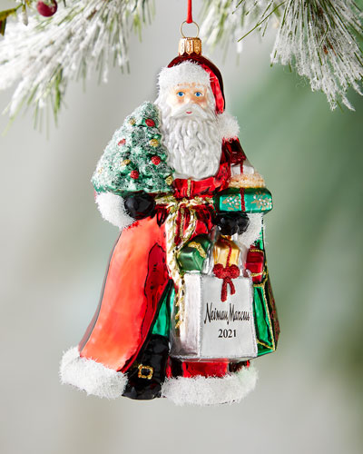 2018 Annual Edition NM Santa Shopping Bag Christmas Ornament
