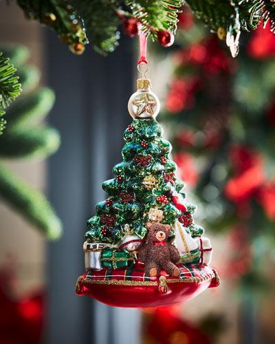 Tree On Pillow Christmas Ornament