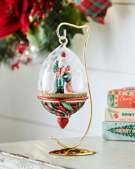 Santa in Globe Display Christmas Ornament