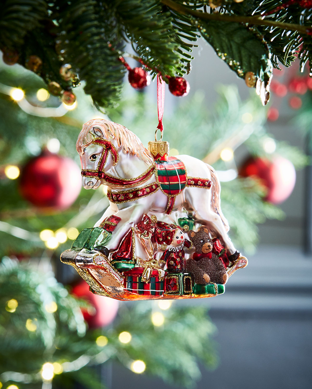 rocking horse christmas ornament - Horse Christmas