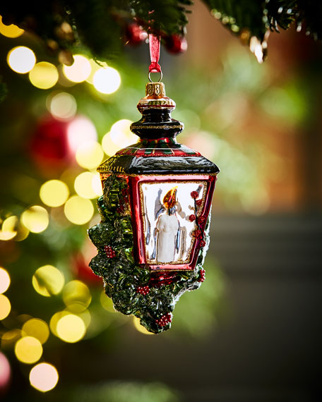 Hand-Painted Glass Lantern Christmas Ornament