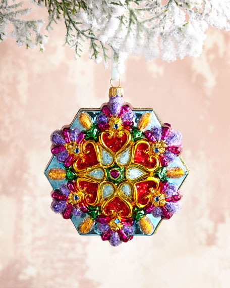 Multicolor Glass Snowflake Christmas Ornament