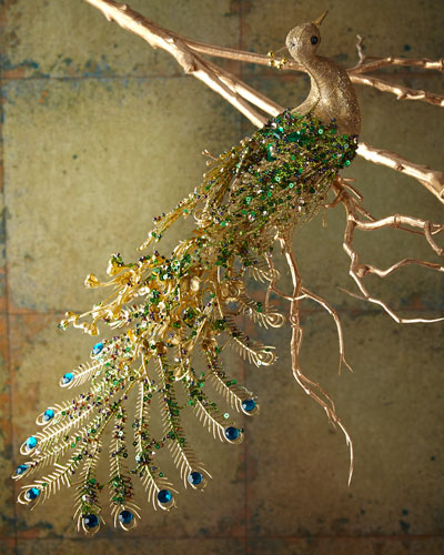 Peacock Christmas Ornament, 14