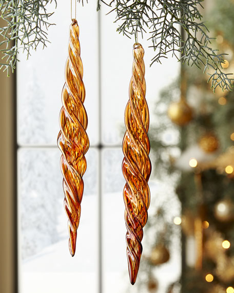 Jim Marvin Glass Beaded Icicle Christmas Ornament