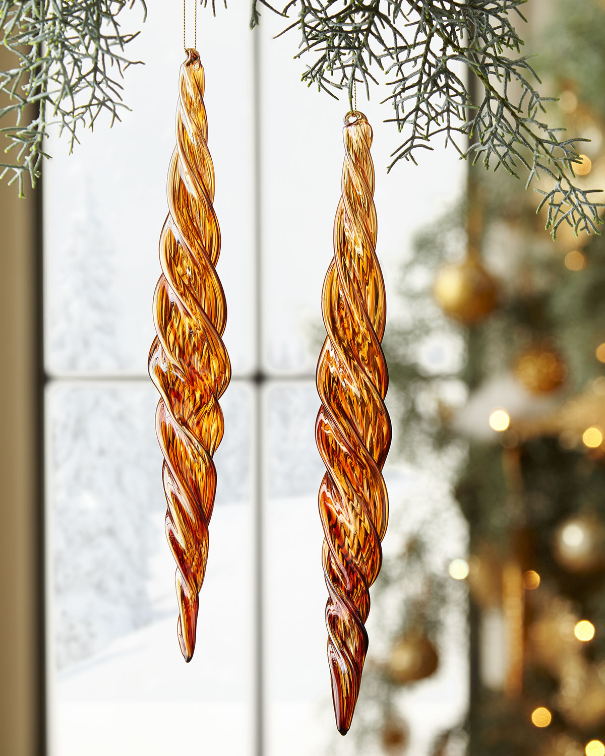 Jim Marvin Glass Beaded Icicle Christmas Ornament | Neiman Marcus