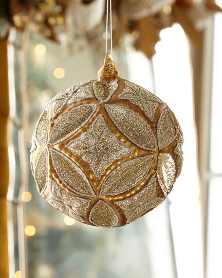 Jim Marvin Large Medallion Ball 150mm Christmas Ornament