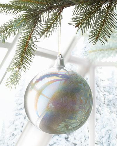120mm Murano Iridescent Glass Christmas Ornament
