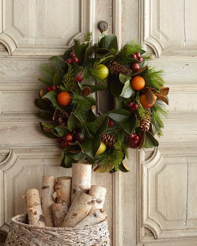 Pine Cone/Fruit/Foliage Wreath, 30