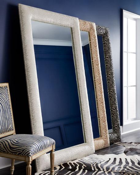 Delilah Animal-Print Floor Mirror