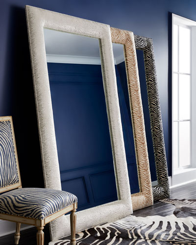 Delilah Animal-Print Floor Mirror