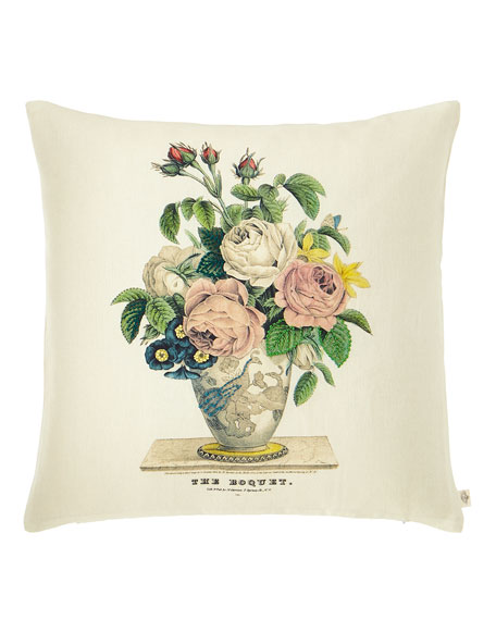 Bouquet Parchment Decorative Pillow