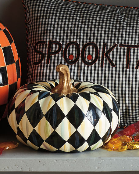 Courtly Harlequin Small Squashed Pumpkin