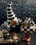 Courtly Check Stripe Witch's Hat