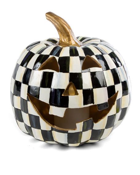 Courtly Check Illuminated Jack-O'-Lantern Halloween Decor
