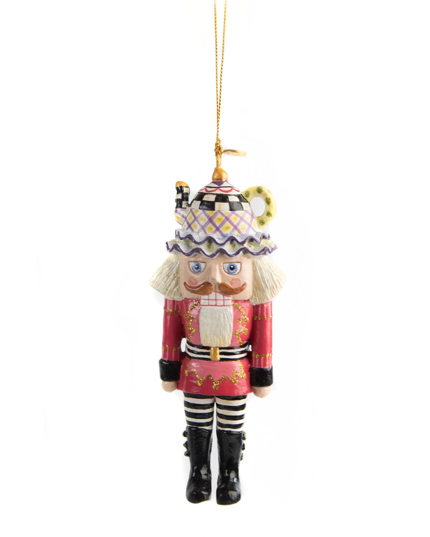 MacKenzie-Childs Tea Time Nutcracker Christmas Ornament | Neiman Marcus