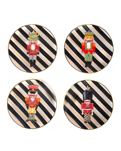 Nutcracker Plates, Set of 4