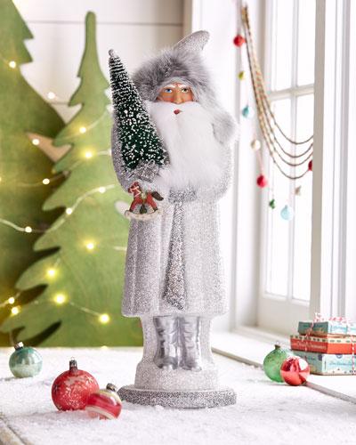 White Frost Santa Figure