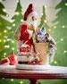 Santa with Toys Paper Mache Figurine