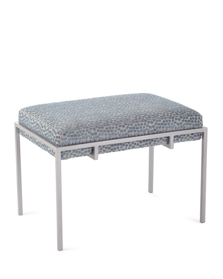 Metal Basket Ottoman Bench