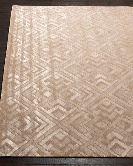 Deco Bas Hand-Knotted Rug, 6' x 9'