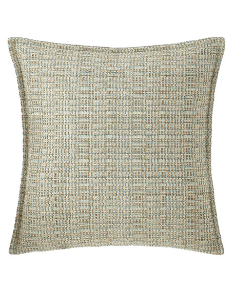Sherry Kline Home Tinsley Basket-Weave Pillow, 18