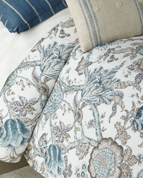 French Laundry Home Lauren Print Queen Duvet and